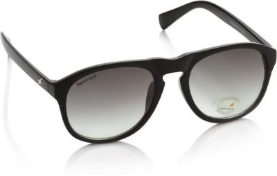 Fastrack P239BK1 Oval Sunglasses(Grey)