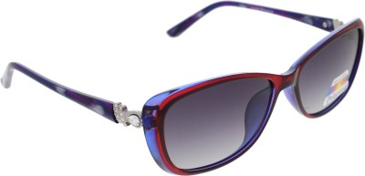 Vast WOMENS _POLO_705_C4_RED_BLUE Cat-eye Sunglasses(Grey)