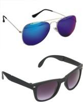 Abazy 0037-40 Aviator Wayfarer Sunglasses(For Boys)
