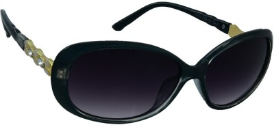 Red Knot 16219-BLU-GLD-BLU-BLK Over-sized Sunglasses(Blue)