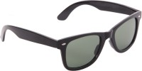 Gansta Gansta GN-8223 Black Red wayfarer sunglasss with G-15 glass lens sunglass Wayfarer Sunglasses(Green)