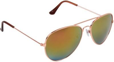 Opticalplaza retro aviator golden Aviator Sunglasses