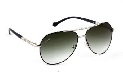 Amaze Green Gradiant Medium Aviator Sunglasses