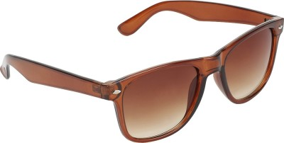 SHOPING RED Contemporary Rectangular Sunglasses