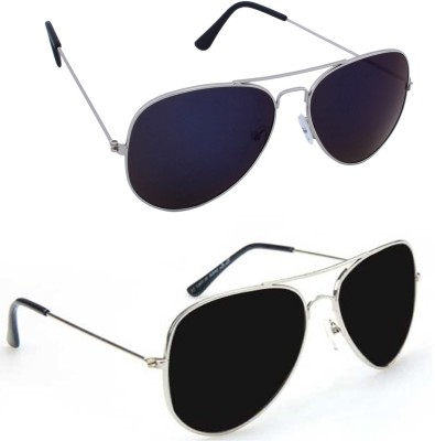 Epic Ink com2172 Aviator Sunglasses(Violet, Black)