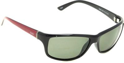 IDEE IDEE-S2006-C3P Wrap-around Sunglasses(Green)