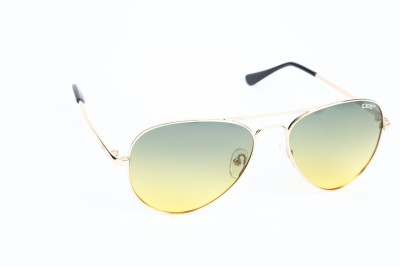IDEE IDEE-2000-C29-P Aviator Sunglasses(Green, Yellow)