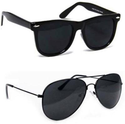 Epic Ink cmb005 Wayfarer, Aviator Sunglasses(Black, Black)