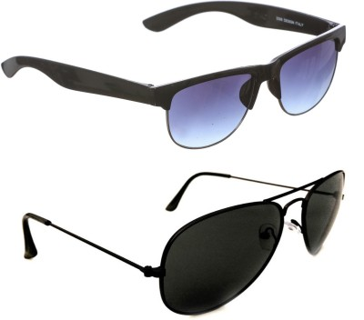 Red Leaf Combo Pack Aviator, Wayfarer Sunglasses