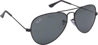 Optical Express Black Unisex Avaitor Sunglass Aviator Sunglasses