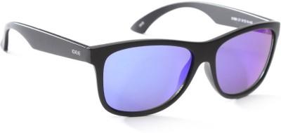 IDEE IDEE S1990 C7 57 Wayfarer Sunglasses(Green, Blue)