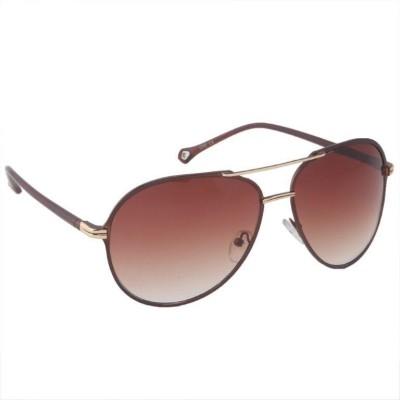 Gansta Gansta MH-1007 Brown aviator sunglass Aviator Sunglasses(Brown)