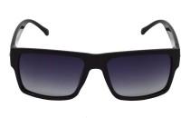 Red Knot MP101-PBLK-SLV-PBLK-BLK-50 Rectangular Sunglasses(Black)