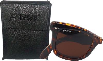 Fave FV015F02U Wayfarer Sunglasses(Brown)