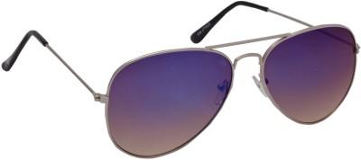 Floyd 028_SIL_DRK_BLUE_MERCURY Aviator Sunglasses(Blue, Yellow)