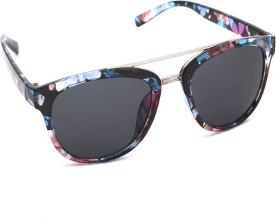 6by6 SG733 Wayfarer Sunglasses(Black)