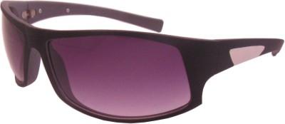 Euro Trend Sporty Biker Dual Tone Wrap-around Sunglasses