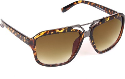 6by6 SG763 Aviator Sunglasses(Brown)