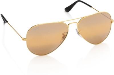 Ray-Ban 0RB3025I 001/4F Aviator Sunglasses(Brown)
