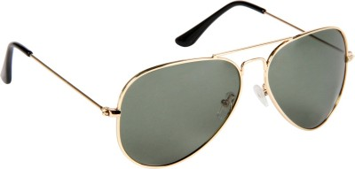 Provogue PV107-Gld-G15 Aviator Sunglasses(Green) at flipkart