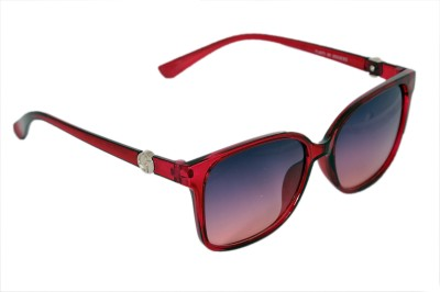 Urbanware Womens 71521 Over-sized Sunglasses(Red)