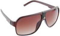 Funky Boys 3017-C2 Wayfarer Sunglasses(Brown)