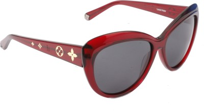 Louis Victor Red Cat-eye Sunglasses