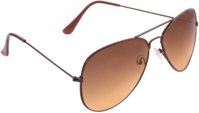 Agera Agera AG1001 brown with gradient lens aviator sunglass Aviator Sunglasses(Orange)