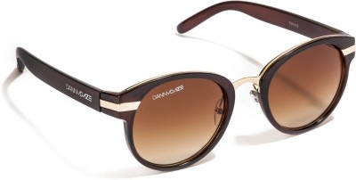 Danny Daze D-2517-C2 Round Sunglasses(Brown)