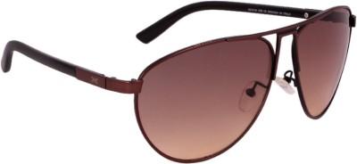 Killer KL3003 BLKBRN Aviator Sunglasses(Grey) image