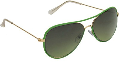 6by6 SG1261 Aviator Sunglasses(Green)