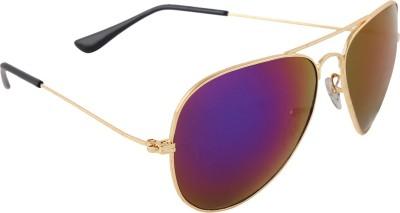 Malocchio Solid Make Aviator Sunglasses