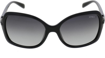 Vast WOMENS XX DESIGN DIAMOND BLACK Oval Sunglasses(Grey)