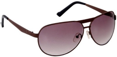 Gansta Gansta RS-1045 Brown aviator sunglass Aviator Sunglasses(Brown)