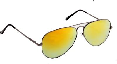 Floyd 30255_SIL_EMERALD_MERCURY Aviator Sunglasses(Yellow)