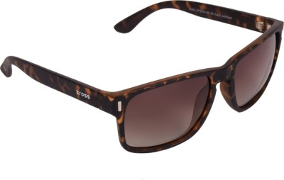 Xross X-001-C3-57 Wayfarer Sunglasses(Brown)