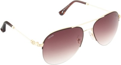 Voyage 1863MG1097 Aviator Sunglasses(Brown)