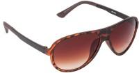 VESPL 3218 Oval Sunglasses(Brown)