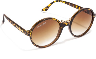 Danny Daze D-2514-C3 Round Sunglasses(Brown)