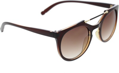 Vast ROUNDTOPBAR_96005_BROWN_W Wayfarer Sunglasses(Brown)