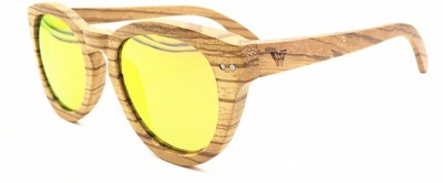 WOOD WORKS INC. Andes Round Sunglasses