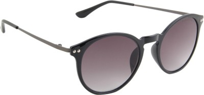 Farenheit 1345-C2 Round Sunglasses(Black)
