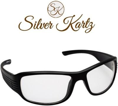 Silver Kartz Clear Vision Wayfarer Sunglasses