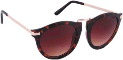 Joe Black JB-583-C2 Round Sunglasses(Brown)