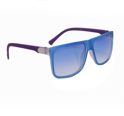 Floyd 326_MAT_BLUE_BLUE Wayfarer Sunglasses(Blue)