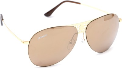 Amaze AM0922 Aviator Sunglasses(Brown)