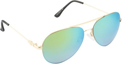 Voyage 1840MG1073 Aviator Sunglasses(Green)