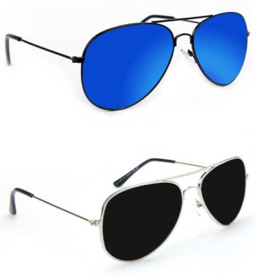 Epic Ink CM3988 Aviator Sunglasses(Blue, Black)