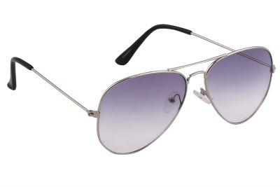 Feel Sunglasses Unisex Medium-58 Full Metal Silver Frame Grey Plastic Lens 100% UV Protected Aviator Sunglasses