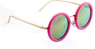 Amaze Pink Medium Round Sunglasses